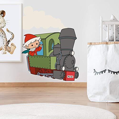 Wandsticker Cars Wandtattoo Sandmann Lokomotive Klebebilder für die Wand Auto Deko innen