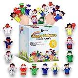 BETTERLINE Set de 12 Piezas de Marionetas de Dedo Happy Helpers de edición Limitada-Enseña y...
