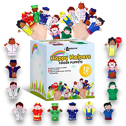 Limited Edition Happy Helpers Finger Puppets 12-Piece Set
