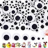 FagusHome 4000 Piezas Adhesivos Ojos de plástico Autoadhesivo Ojos Móviles Manualidades Ojos Adhesivos Pequeños Tamaños Surtidos 5 mm-25 mm para Bricolaje