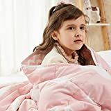 Weighted Idea Small Weighted Blanket 5 lbs for Kids and Child 36''x48'' (100% Natural Cotton, Grey)