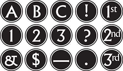 Teacher Created Resources 75400 Big, Bold Black & White Circle Letters