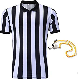 Shinestone Referee Shirts, Men's Basketball Football Soccer Sports Referee Umpire Shirt Referee Shirt Jersey Costume Short Sleeves, Perfect for Outdoor Sports