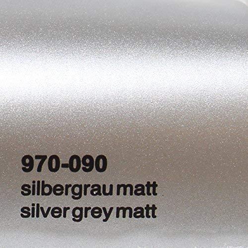20,72€/m² Oracal 970RA 090 Silber Grau Matt gegossene Profi Autofolie 152cm breit BLASENFREI mit Luftkanäle