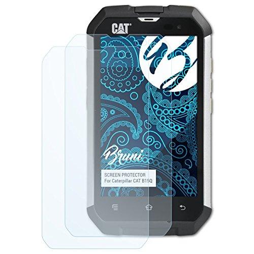 Bruni Schutzfolie kompatibel mit Caterpillar CAT B15Q Folie, glasklare Displayschutzfolie (2X)