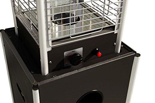 Beach & Pool Terrassenheizer VIDRO schwarz + GRATIS Schutzhülle Heizpilz mit Glasröhre und außergewöhnlichem Design, Premium Qualität Terrassen-Heizstrahler Gas - 4