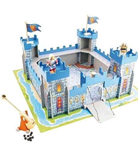 giochi preziosi HDG70095 castillo de madera con un puente levadizo
