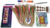 Naarilok Quilling and Strips Tools with 1200 Quillingstrips - Pack of 6