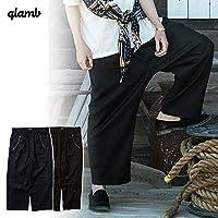 (グラム)glamb Paisley wide pants gb0220-p04 Navy 2