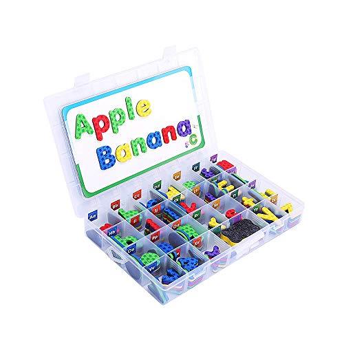FGASAD Magnetbuchstaben und Zahlen Geschenkset, Kinderbuchstaben, Kühlschrank-Aufkleber für Vorschullernen, Rechtschreiben, Zählen