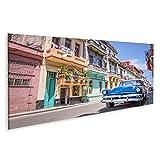 Cuadro en lienzo Coche clásico americano de época La Habana, Cuba cuadros decoracion Impresión salon