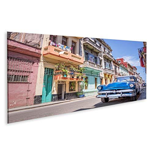 islandburner Cuadro en Lienzo Coche clásico Americano de época La Habana, Cuba Cuadros Decoracion Impresión Salon