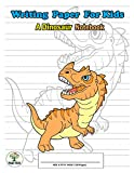 Writing Paper For Kids. A Dinosaur Notebook: Handwriting Practice Paper with Dotted Lined , ABC Kids. A Dinosaur Cover design Ceratosaurus.