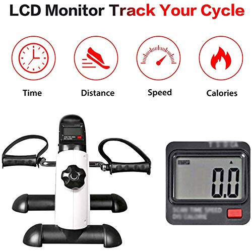 MENGCI Home fitnessapparaat fiets fitness mini pedaal hometrainer LCD display indoor fiets fiets stepper