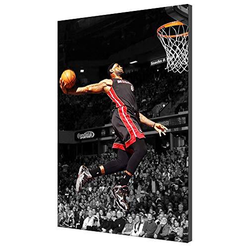 Karen Max Lebron James Basketball Bild Home Decor Moderne Wandkunst Malerei Auf Leinwand Poster Für Wohnzimmer Büro Kunstwerke (Kein Rahmen,60x90cm)