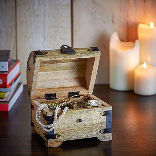 Casa Vivente Geschenkset zur Hochzeit – Sektgläser und große Schatztruhe mit Gravur – Motiv Ringe – Personalisiert mit Namen und Datum – Hochzeitsgeschenke für Brautpaar - 2