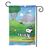 LIUYAN Garden Flag - Fishing Snoopy Unique Decorative Double Sided Outdoor Yard Flags for Your Home 12.5' X 18'