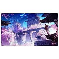 ゲームアニメーションマウスパッド、キーボードパッド, 大型ゲームマウスパッドアニメ大型マウスマットキーボードマットコンピュータデスクトップPCのラップトップマウスパッド(カラー:F、サイズ:900x400x3mm)