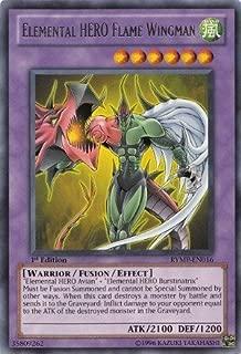 Yu-Gi-Oh! - Elemental HERO Flame Wingman (LCGX-EN045) - Legendary Collection 2 - Unlimited Edition - Secret Rare