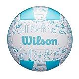 Wilson WTH10120XB Balón de Voléibol, Seasonal , Uso Exterior, Motivos Invernales, Azul