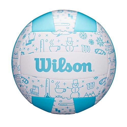 Wilson Volleyball SEASONAL, Für Außenutzung, Winter-Motiv, blau, WTH10120XB