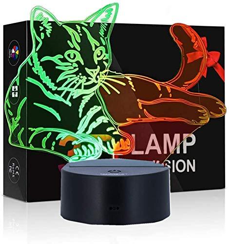 3D LED Licht Nachtlicht Optische Täuschung Lampe Schreibtischlampe Tischlampe Nachtlicht 7 Farben ändern Touch Control
