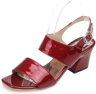 BalaMasa Womens ASL05993 Pu Block Heels