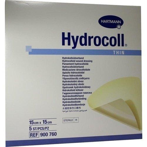 Hydrocoll thin Wundverband 15x15 cm, 5 St
