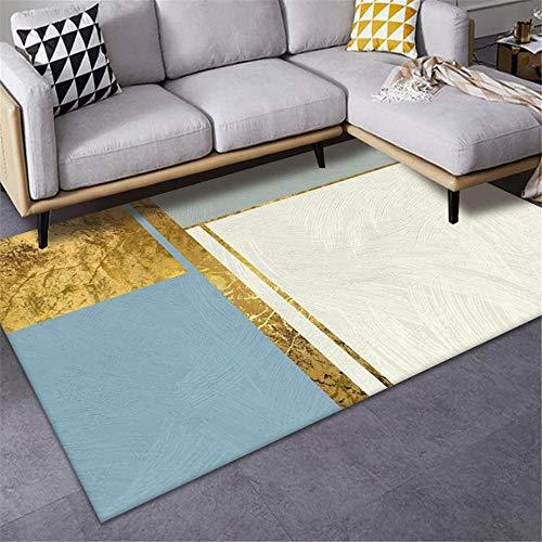Alfombras Alfombra Salon Moderna Azul Amarillo Crema Estilo geométrico Extremo washam Lavado Alfombra Dormitorio alfombras alfombras para Salon 200*300cm