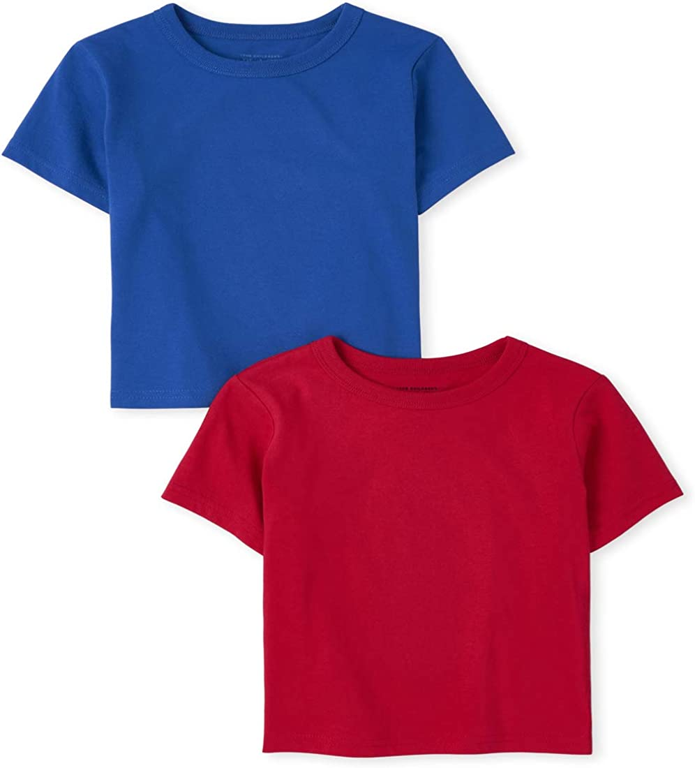 The Children's Place Baby Boys' Short Sleeve Shirts, Pack of Two