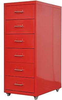 RUCC Classeur à tiroirs Armoire basse A4 Armoire de stockage Bureau Données mobiles (Color : Red, Size : 0.7mm)