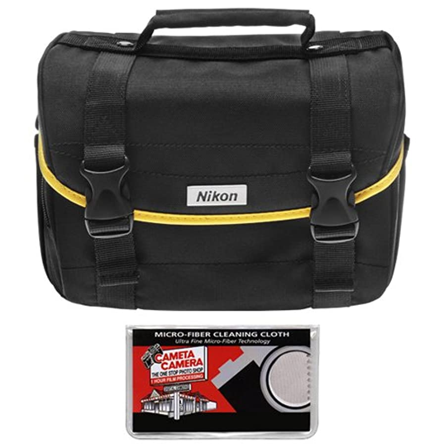 Nikon Starter Digital SLR Camera Case - Gadget Bag and Cameta Microfiber Cleaning Cloth
