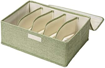 Foldable Bra Storage Box 5 Grid Drawer Organisers with Dust-Proof lids Washable Bra Closet Storage Organizer Designed for ...