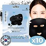 Koreanische Gesichtsmaske, Tiefen-Reinigung Mitesser-Maske Pickel-Entferner Aktiviertes Peeling Face-Sheets Masken Bundle (Packung mit 10 Stück)