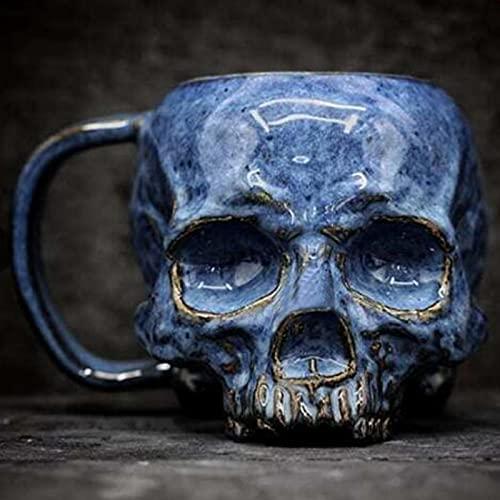 Halloween Skull Coffee Mug Skull Beer Mugs Skull Water Cup Funny Horror Holiday Daily Home Decoration Cranial Skeleton Head Mug Skull Head Water Cup for friends
