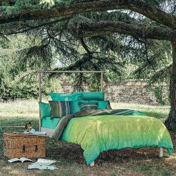 Bassetti Granfoulard - Juego de sábanas para cama de matrimonio de 2 plazas, 100% satén de puro algodón - Encimera + bajera con esquinas Maxi + fundas de almohada tipo saco (Nabucco V1)