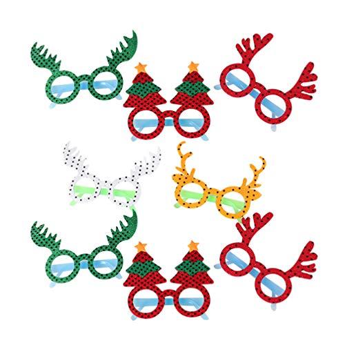 BESPORTBLE 8 stücke Nette Weihnachten Kinder Brille schmuck dekorative brillengestell Foto Requisiten gastgeschenke für Kinder (zufällige Stil)