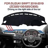 適用SUZUKI SWIFT 2018-2019(ZC33S/13S/53S/C83S)専用 ダッシュボードカバー ダッシュマット車内 内装 日焼け防止 ダッシュボードライト保護マット …