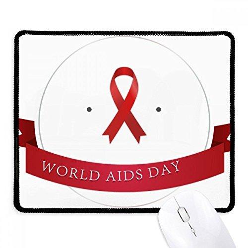 DIYthinker hiv 1 december rood lint aids dag anti-slip muismat spel office zwart teef randen gift