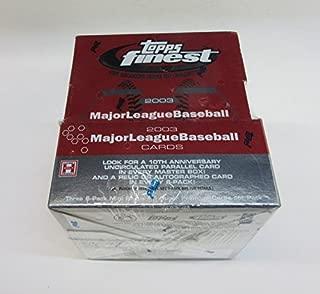 2003 Topps Finest Baseball Box (Hobby)