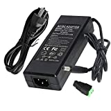 IEIK 12V 8A 96W Power Supply Adapter AC to DC Converter Charger AC 110V ~ 240V to DC 12V 8Amp Transformer for Water Pump, CCTV, Computer Project