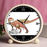 Alarm Clock, Bedroom Tabletop Retro Portable Clocks with Nightlight Custom designs Dinosaurs 223_Abrictosaurus dinosaur