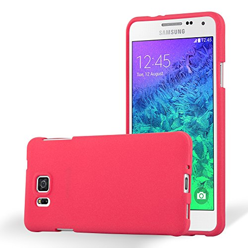 Cadorabo Hülle für Samsung Galaxy Alpha - Hülle in Frost ROT – Handyhülle aus TPU Silikon im matten Frosted Design - Silikonhülle Schutzhülle Ultra Slim Soft Back Cover Case Bumper