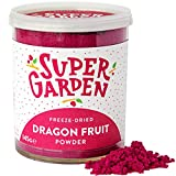 Super Garden Dragon de fruta liofilizada en polvo - Producto 100% puro y natural - Apto para veganos - Sin azúcares, aditivos artificiales ni conservantes añadidos - Sin gluten - No OMG