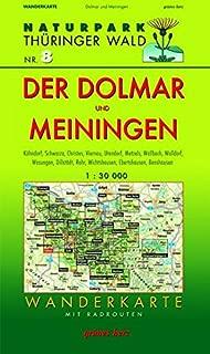 Naturpark Thüringer Wald 08. Der Dolmar und Meiningen 1 : 30 000 Wanderkarte: Mit Kühndorf, Schwarza, Christes, Viernau, Utendorf, Metzels, Wallbach, ... Ebertshausen, Benshausen. Mit Radrouten