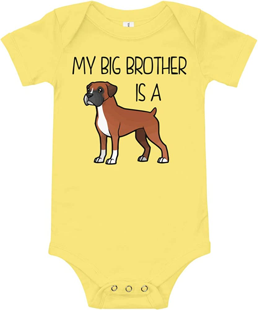 Baby Bodysuit My Big Brother is a Boxer Fawn
