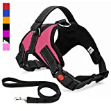 Musonic No Pull Dog Harness, Breathable Adjustable Comfort, Free Lead Included, for Small
