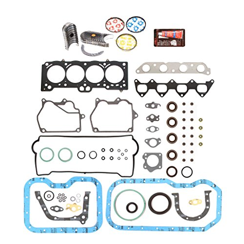 Evergreen Engine Rering Kit FSBRR2015EVE Compatible With 93-97 Toyota Celica Corolla Geo 1.8 DOHC 7AFE Full Gasket Set, Standard Size Main Rod Bearings, Standard Size Piston Rings