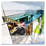 LIXIONG Marquesina Puertasy, Aleación Ventanas Toldo Refugio contra Escaparates Lluvia Nieve Protección Cubierta Policarbonato, Personalización Tamaño (Color : Green, Size : 60x150cm)