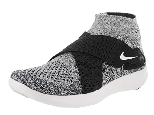 Nike Womens Free RN Motion Flykknit 2017 Running Trainers 880846 Sneakers Shoes (UK 6.5 US 9 EU 40.5, Black White Pure Platinum 001)